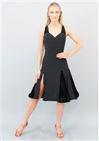 Style Lola Short Dress Black Velvet - Women's Dancewear | Blue Moon Ballroom Dance Supply