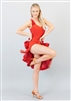 Style Lola Short Dress Red Velvet - Women's Dancewear | Blue Moon Ballroom Dance Supply