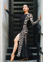 Style Marissa Animal Print Ballroom Gown - Dancewear | Blue Moon Ballroom Dance Supply