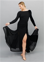 Style Marissa Black Velvet Ballroom Gown - Dancewear | Blue Moon Ballroom Dance Supply