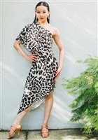 Style Miari Nia Animal Print Latin Dress - Women's Dancewear | Blue Moon Ballroom Dance Supply