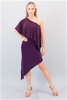 Style Miari Nia Plum Latin Dress - Women's Dancewear | Blue Moon Ballroom Dance Supply