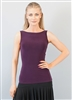 Style Paige Sleeveless Plum Top - Dancewear | Blue Moon Ballroom Dance Supply