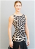 Style Paige Sleeveless Animal Print Top - Dancewear | Blue Moon Ballroom Dance Supply