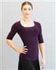Style Rue Short Sleeve Plum Top - Dancewear | Blue Moon Ballroom Dance Supply