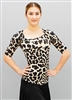 Style Rue Short Sleeve Animal Print Top - Dancewear | Blue Moon Ballroom Dance Supply