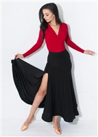 Style Simone Smooth Ballroom Skirt Black | Blue Moon Ballroom Dance Supply