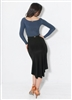 Style Sonia Black Skirt - Women's Dancewear | Blue Moon Ballroom Dance Supply