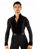 Style Theodore Black Velvet Trim Long Sleeve Shirt | Blue Moon Ballroom Dance Supply