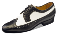 Style NE Buenos Aires Black & White Leather - Dance Shoes | Blue Moon Ballroom Dance Supply
