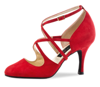 Style NE Marissa Red Suede - Dance Shoes | Blue Moon Ballroom Dance Supply