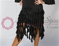 Style NS 09L007 Black Cascade Ribbon Skirt