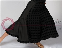Style NS Black Dotted Ballroom Skirt