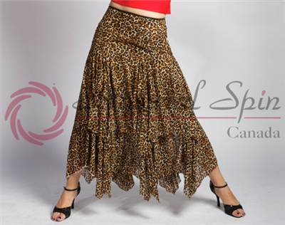 Style NS Leopard Ballroom Skirt | Blue Moon Ballroom Dance Supply