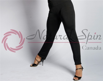 Style NS 10Pa001 Black Slim Fit Pant - Quality Dancewear | Blue Moon Ballroom Dance Supply