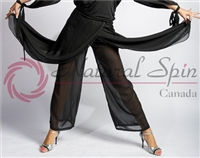 Style NS 10Pa003 Black Sheer Leg Pant - Women's Dancewear  | Blue Moon Ballroom Dance Supply