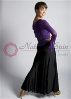 Style NS 10Ta40 Purple V Neck LS Top