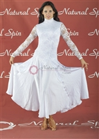 Style NS BD27 White Lace Ballroom Dress