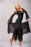 Style NS BD30 Black Sheer Ballroom Dress