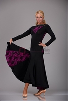 Style NS BD23 Black with Lace Ballroom Dress
