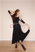 Style NS BD51 Black Lace Ballroom Dress