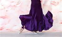 Style NS Two Tone Purple Ballroom Skirt