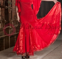 Style NS Two Tone Red Ballroom Skirt