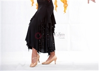 Style NS Black Ruffled Ballroom Skirt - Women's Dancewear | Blue Moon Ballroom Dance Supply