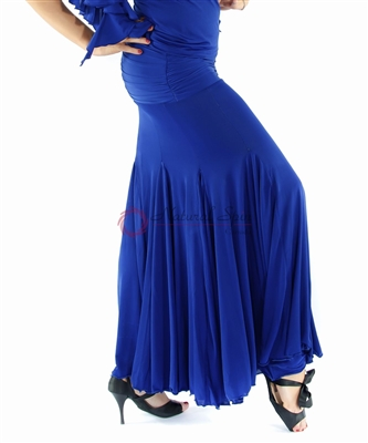 Style NS Blue Fitted Ballroom Skirt | Blue Moon Ballroom Dance Supply