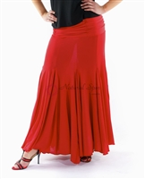 Style NS Red Fitted Ballroom Skirt