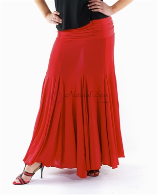 Style NS Red Fitted Ballroom Skirt | Blue Moon Ballroom Dance Supply