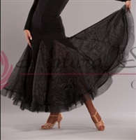 Style NS Black Panel Ballroom Skirt