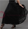 Style NS Sheer Layer Black Ballroom Skirt