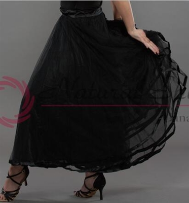 Style NS Sheer Layer Black Ballroom Skirt - Women's Dancewear | Blue Moon Ballroom Dance Supply