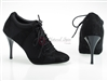 Style NS Tango Sneaker Black Net and Black Suede