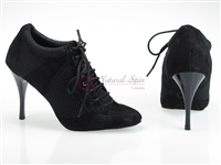 Style NS Tango Sneaker Black Net and Black Suede | Blue Moon Ballroom Dance Supply
