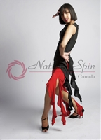 Style NS L007T Black & Red Tango Skirt