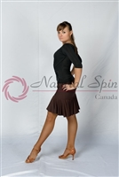 Style NS L017-3 Brown Latin Skirt