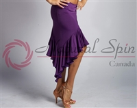 Style NS L08006 Purple Latin Skirt