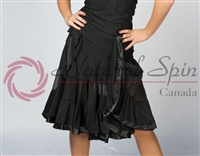 Style NS L08008 Black Ruffled Layer Skirt
