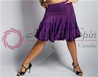 Style NS L08008 Purple Ruffled Layer Skirt