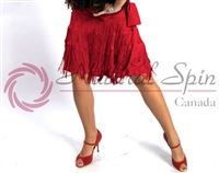 Style NS L08016 Red Fringe Skirt