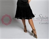 Style NS L09031 Black Ribbon Trim Skirt for Dance | Blue Moon Ballroom Dance Supply