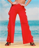 Style NS LP04 Red Lace Ruffle Pant