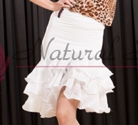 Style NS LS56 White Ruffled Skirt