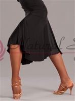 Style NS LS67 Black Knee Length Skirt for Dance | Blue Moon Ballroom Dance Supply