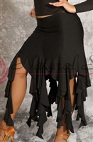 Style NS Black Ribbons Ballroom Skirt