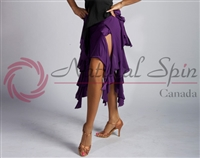 Style NS Purple Ribbons Ballroom Skirt