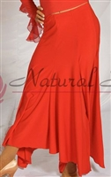 Style NS  Basic Red Ballroom Skirt