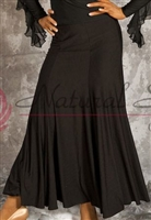 Style NS Uneven Hem Black Ballroom Skirt